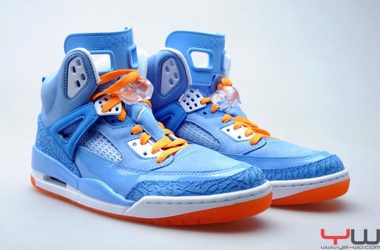 huge discount 66b3d 44d27 Jordan Spiz ike University Blue White Italy Blue Vivid Orange 315371-415 (1