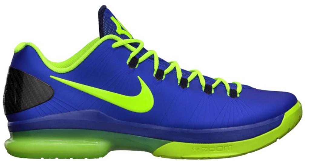 Nike KD V Elite 585386-400 Hyper Blue/Volt-Blackened Blue