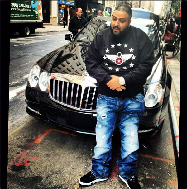 DJ Khaled wearing Air Jordan 5 V Retro Oreo
