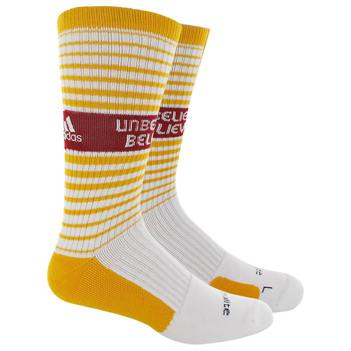 adidas Team Speed Crew Socks RG3 Inspire Collection - Unbelievably Believable - White Gold Cardinal  Q31318