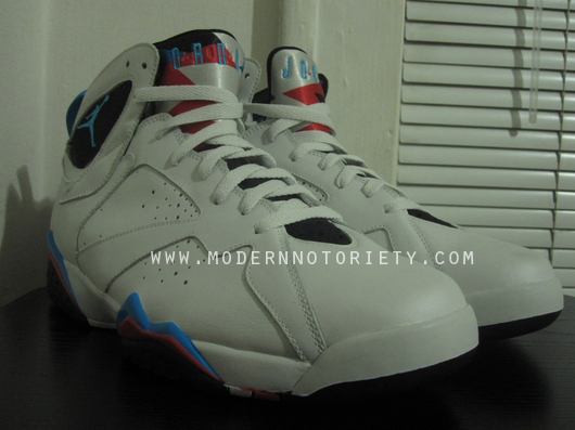 Air Jordan Retro 7 White Orion Blue Black Infrared 304775-105