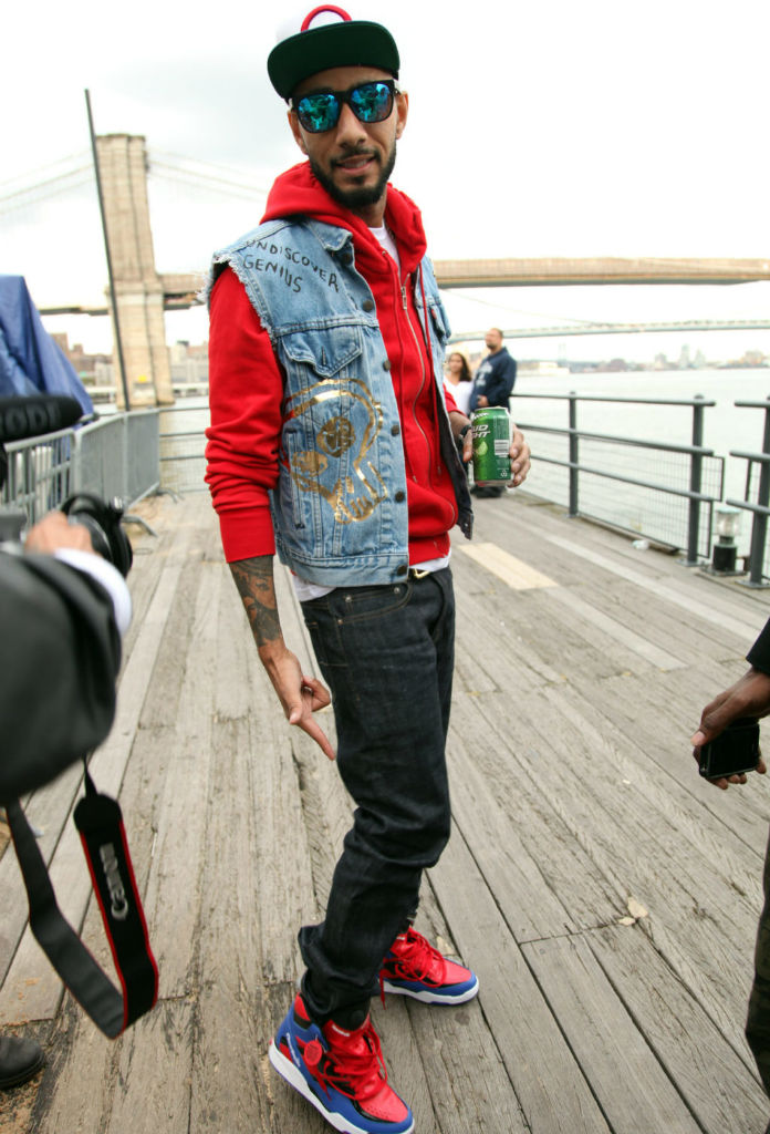 Swizz Beatz wearing Reebok Twilight Zone Pump Spider Man (5)