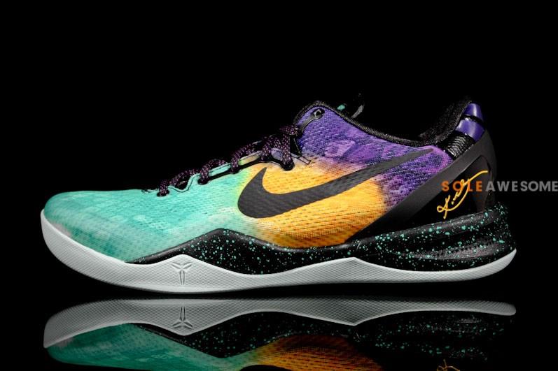separation shoes 96ae3 10f8e Nike KOBE 8 SYSTEM - Aqua Purple-Gold