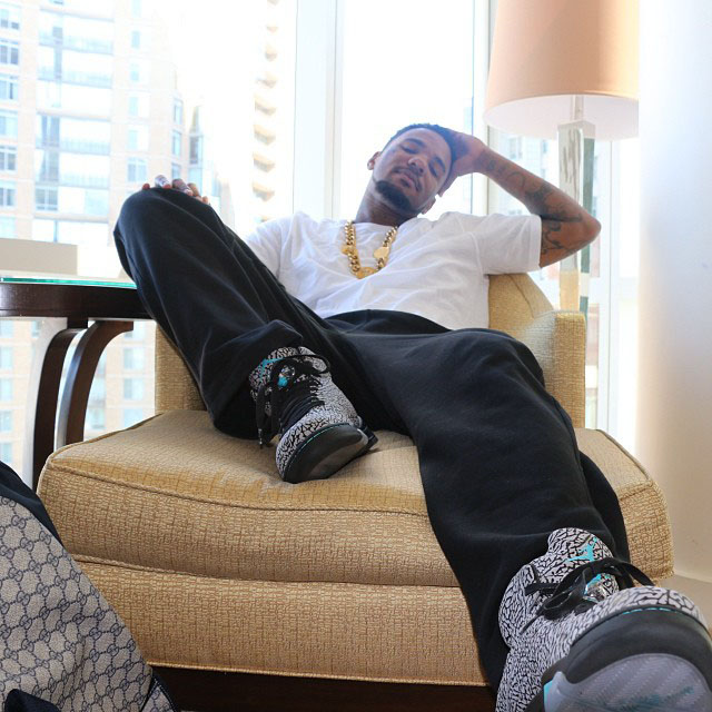 The Game wearing Air Jordan 5 V Retro 3Lab5