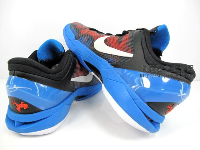 Nike Zoom Kobe VII Poison Dart Frog Black White Red Blue 488371-403 (5)