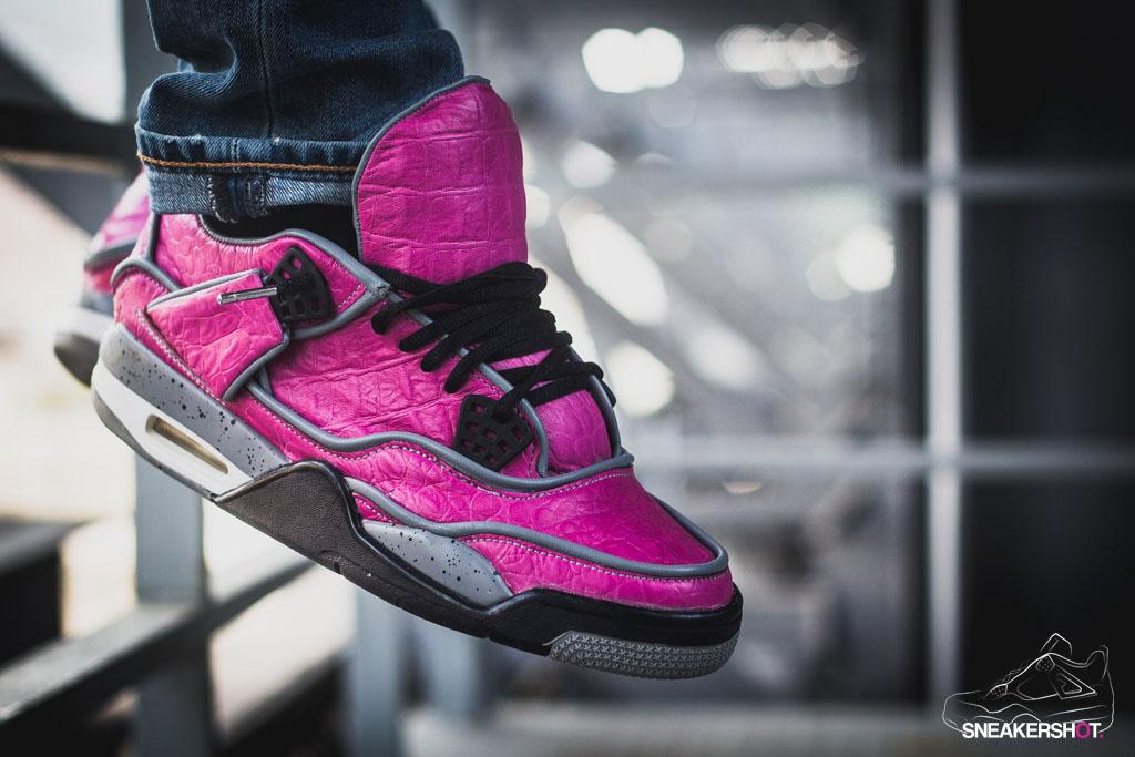 1b2aaf3ca9f6 Maggi s  Pink Dinosaur  Air Jordan 4 Custom