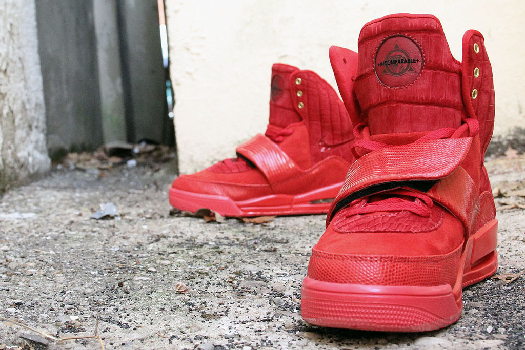 Nike Air Yeezy 'Red Croc Lizard Suede' by JBF Customs (4)