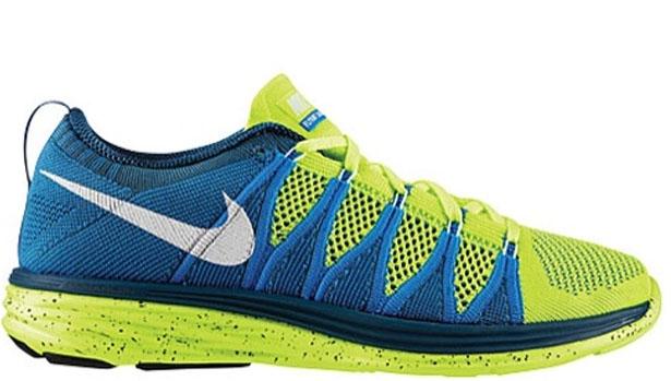 Nike Flyknit Lunar2 Volt/White-Blue Glow