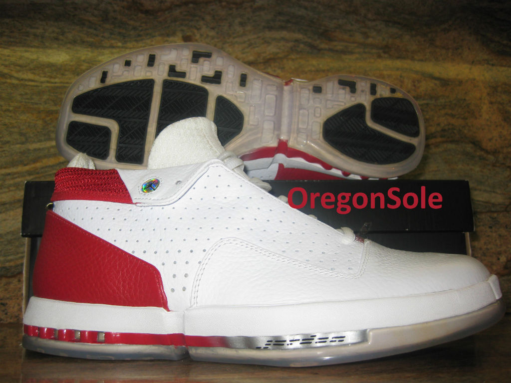 7c1cb8d6b4f1a2 Air Jordan Retro 16 Low - White Varsity Red Unreleased Sample