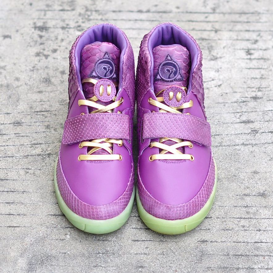 Nike Air Yeezy 2 Purple Lakers Custom by The Remade Front