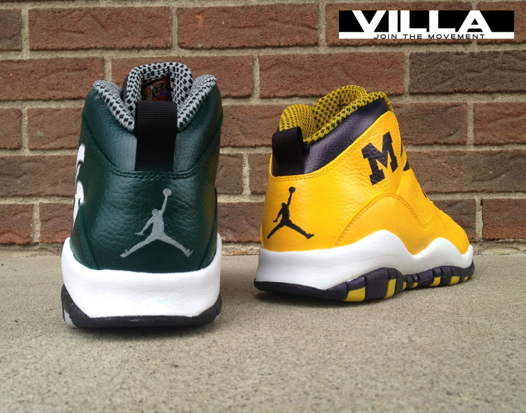 huge discount d71c8 31712 Air Jordan 10 X 'A State Divided' for VILLA by Mache Custom ...