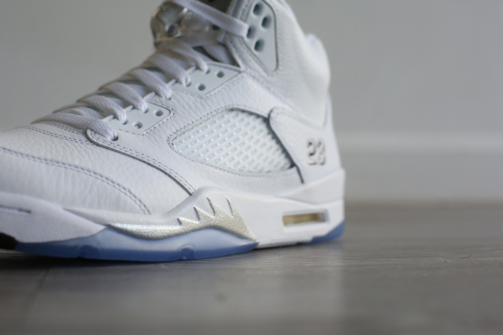 brand new b9f78 7dc47 The  White Metallic  Air Jordan 5 Is Returning Soon