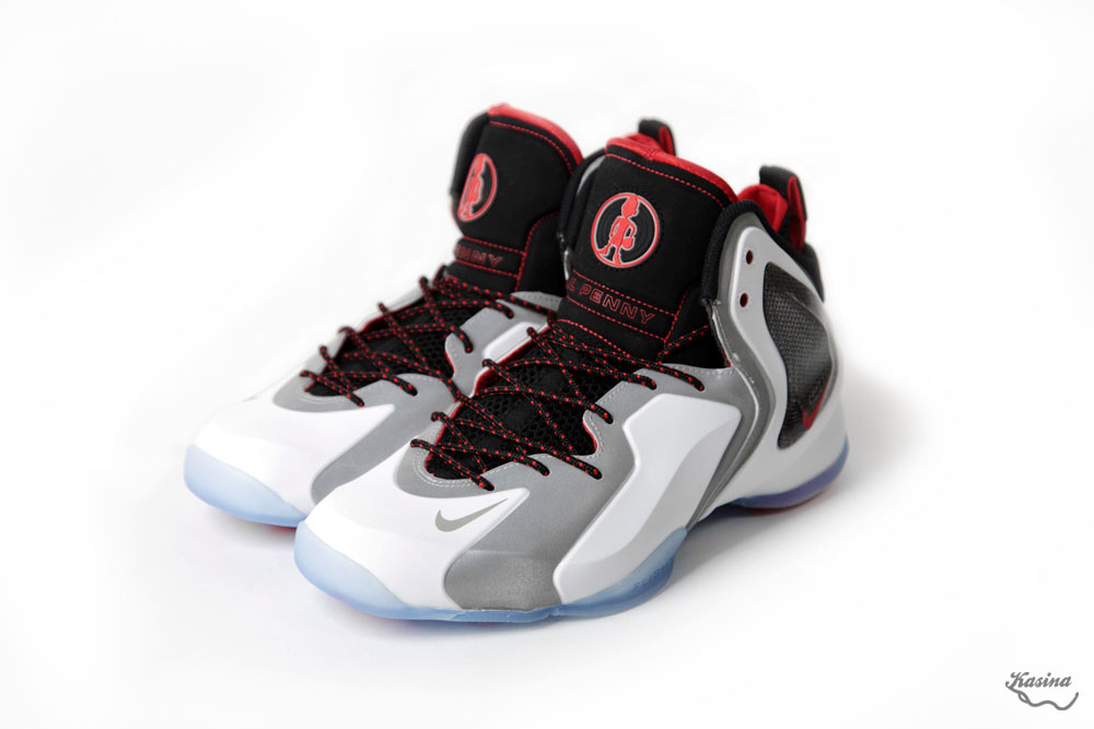 Nike Lil' Penny Posite White/Reflective Silver-Black-Chilling Red 630999-100 (1)