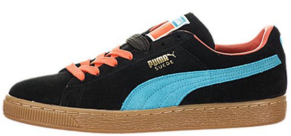 Puma Suede Classic+ Black/Tiger Lilly-Blue Bird