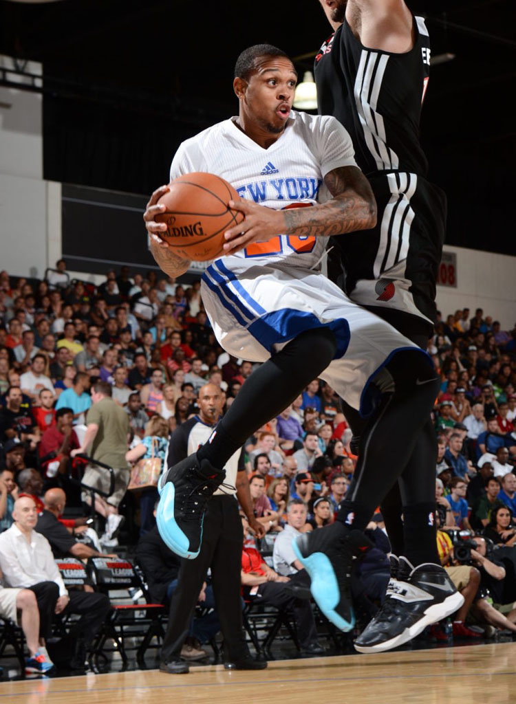 Shannon Brown wearing Air Jordan XII 12 Gamma Blue