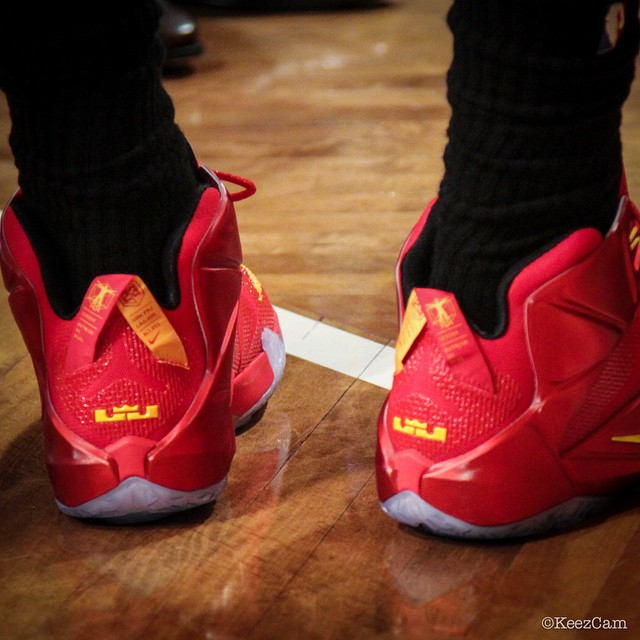 Nike LeBron XII 12 Red/Yellow PE (5)