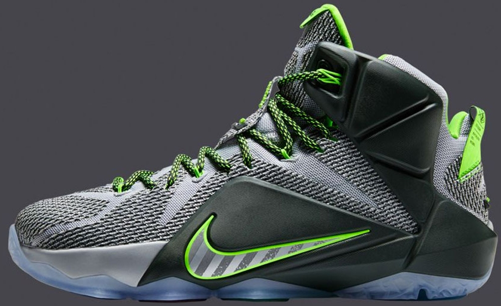 innovative design 4a440 41678 Shop Cheap Nike Lebron 12 Wolf Grey Volt Black | Phoenix ...