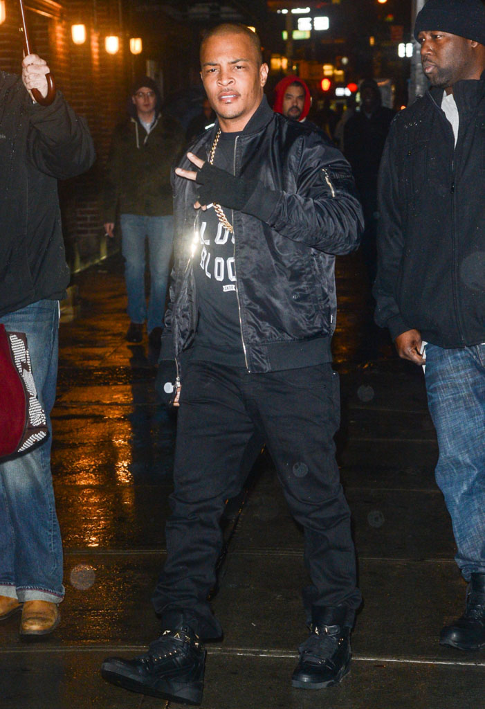 T.I. wearing Givenchy Star Studded Sneakers