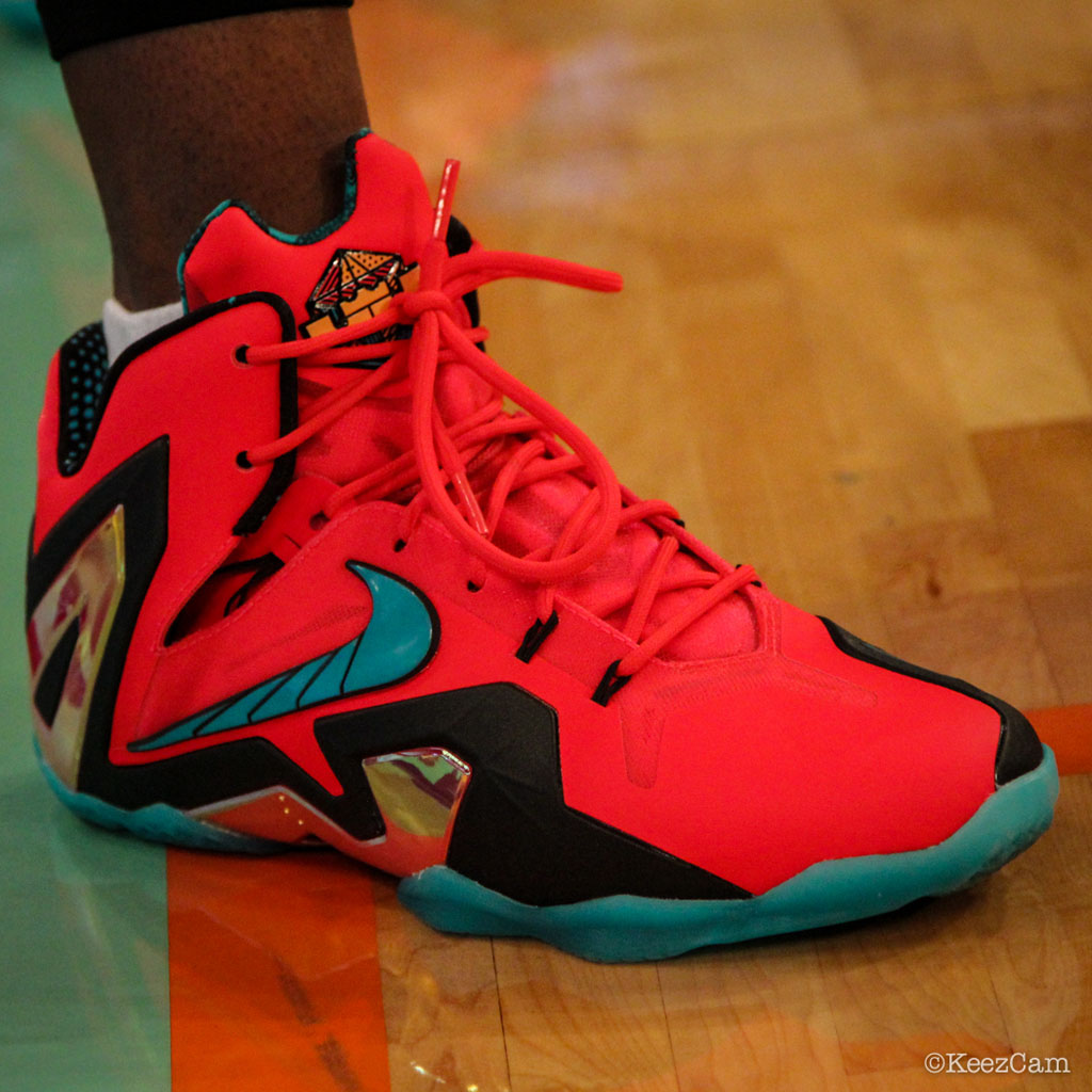 Swin Cash wearing Nike LeBron XI 11 Elite Hero (2)
