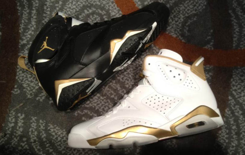 Air Jordan VI 6 & VII 7 Golden Moments Medal Pack 535357-935