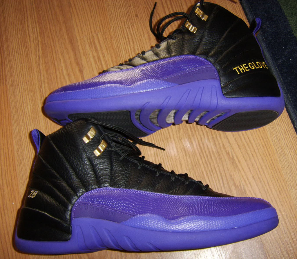 Gary Payton s Air Jordan XII 12 Lakers Away PE d81b44a312