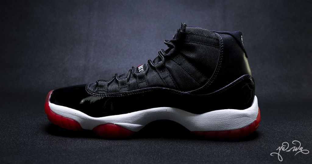 Air Jordan XI 11 Black Red 378037-010 (9)