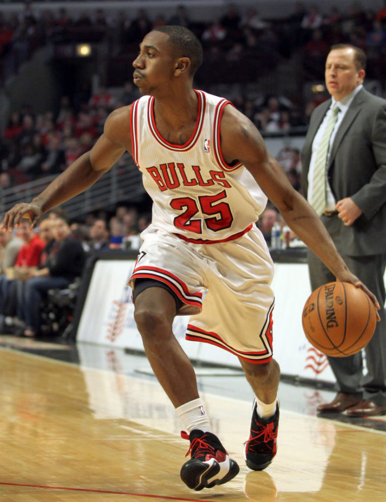 Marquis Teague wearing adidas Top Ten 2000