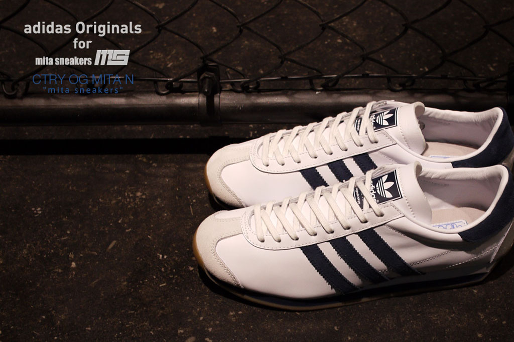 competitive price fad99 3751b mita sneakers x adidas Originals Country OG White Navy-Gum