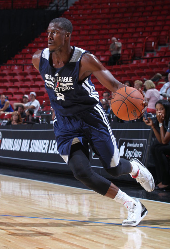 Tony Mitchell wearing Air Jordan III 3 Cement