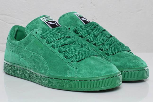 puma classic suede green