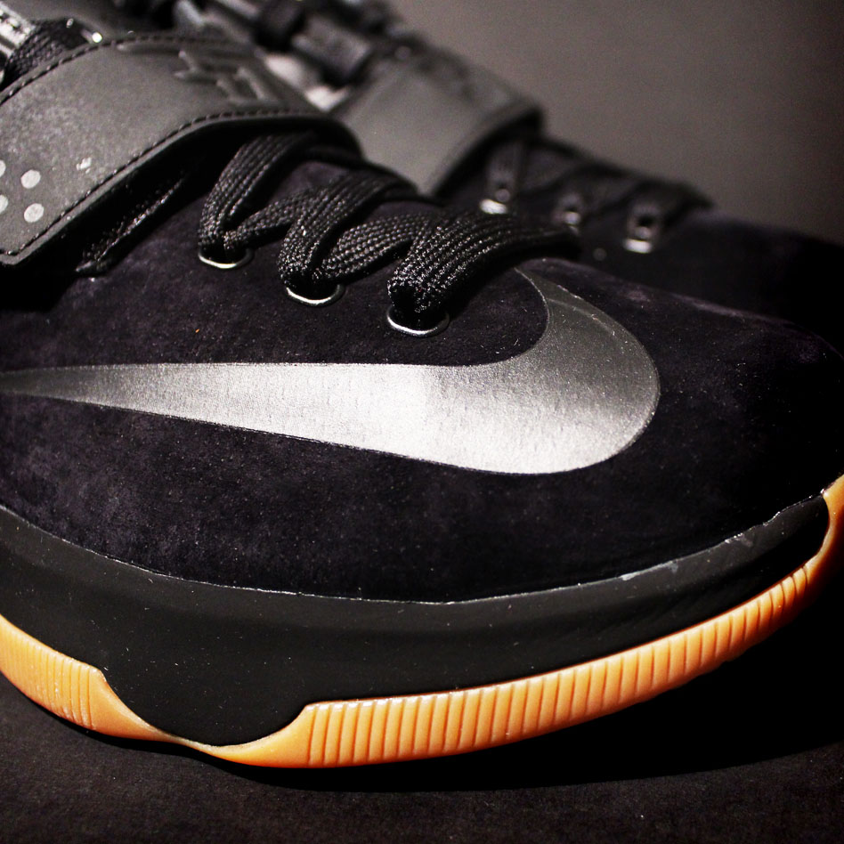 new product cf9f8 8344f ... sale nike kd vii 7 black suede the badd35st 717593 001 2 82800 31af1