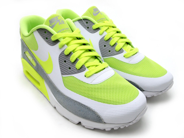 Nike Air Max 90 Premium Volt Wolf Grey White | Sole