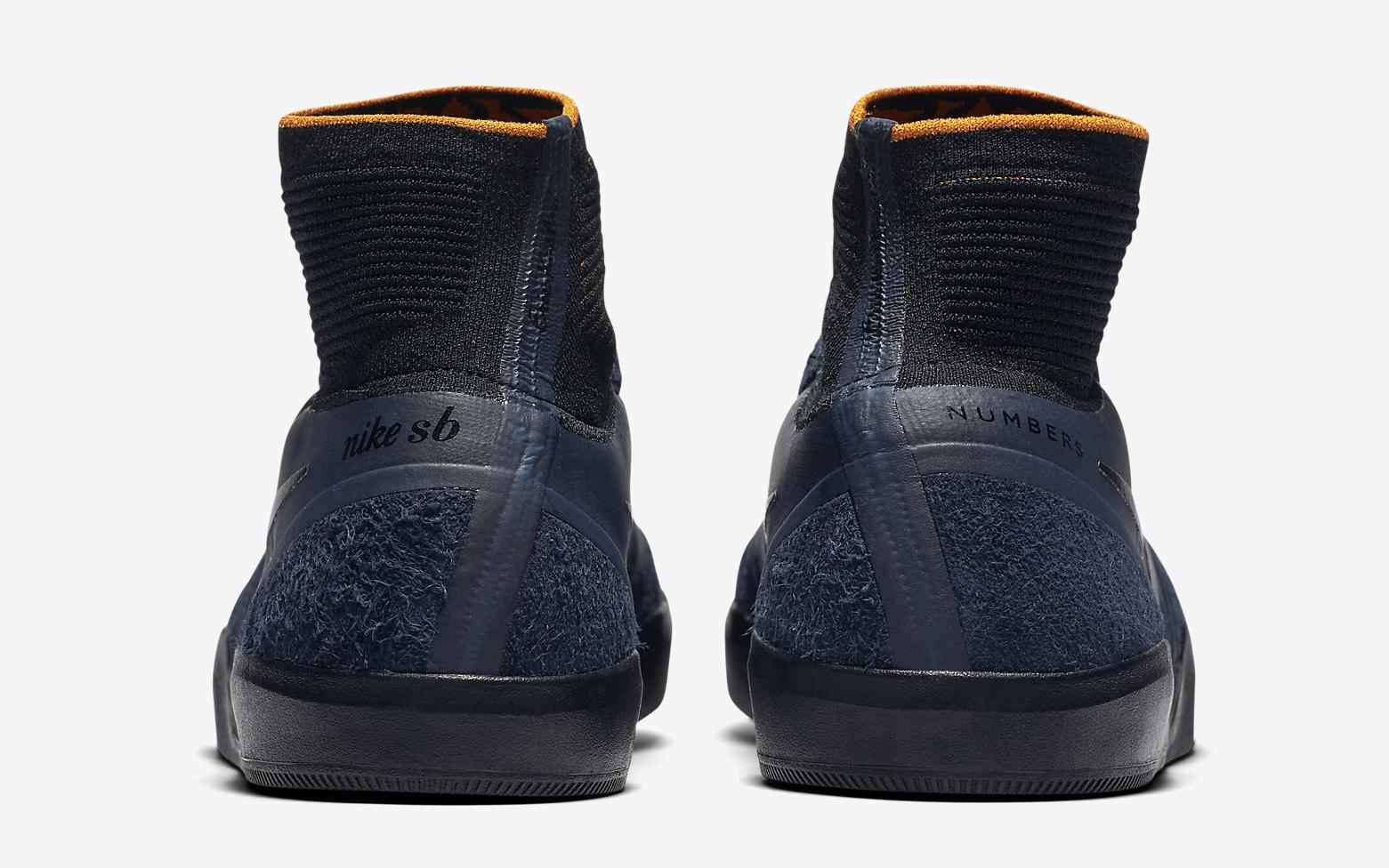 Numbers Nike SB Koston 3 865596-408 Heel