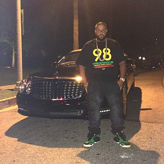 DJ Khaled wearing Nike Air Diamond Turf Oregon Ducks