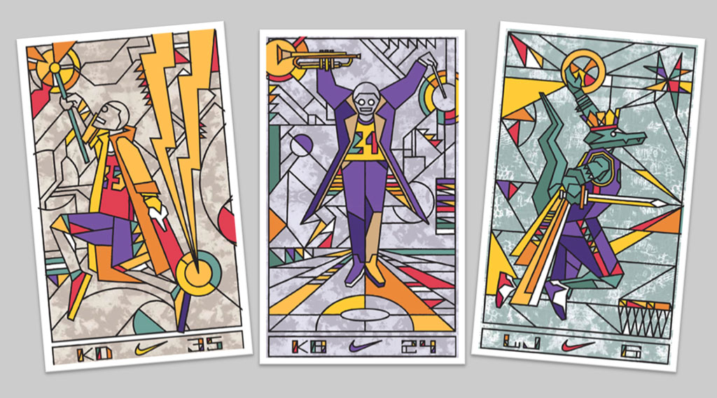 Nike Basketball NOLA Gumbo League All-Star Collection: LeBron 11, KD 6 & Kobe 9 Elite Tarot Cards