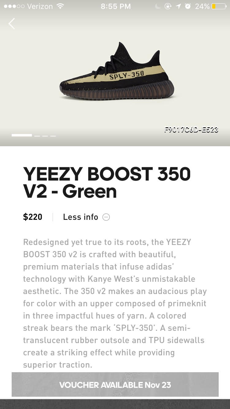 Confirmed Adidas Yeezy Boost 350 V2