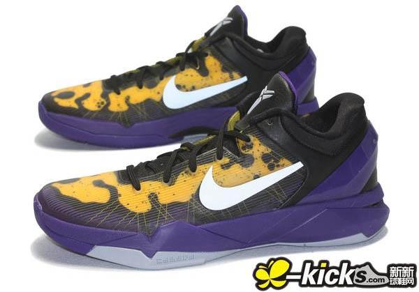 new styles f2e36 e3db4 Nike Kobe VII 7 Poison Dart Frog Lakers 488371-500 (2)