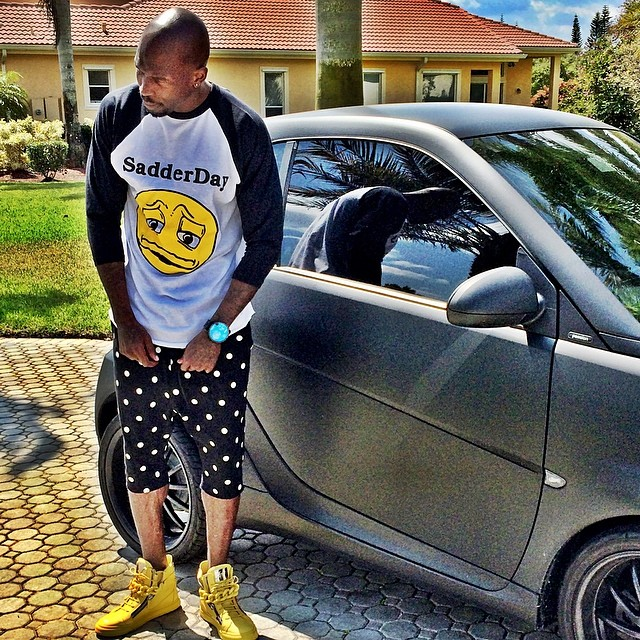 Chad Johnson wearing Giuseppe Zanotti Sneakers