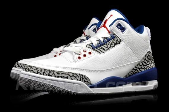 check out 1bf9e b698b 06 04 2011 Air Jordan III Retro 136064-104 White True Blue  150.00 - Men s   110.00 - Gradeschool  65.00 - Preschool  47.00 - Toddler  40.00 - Infant
