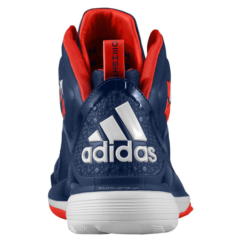 adidas D Howard 5 Navy/Red/White (3)