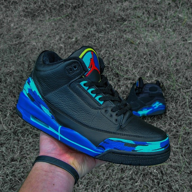 Air Jordan III 3 Aqua by Raleigh Restorations (1)