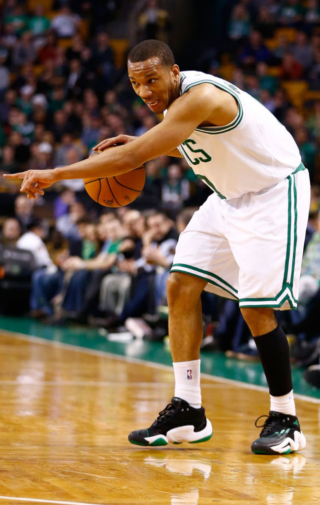 Avery Bradley wearing adidas Real Deal