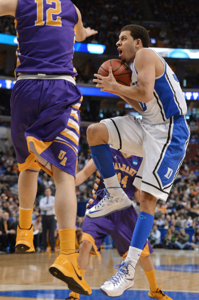 Seth Curry wearing Nike LeBron X