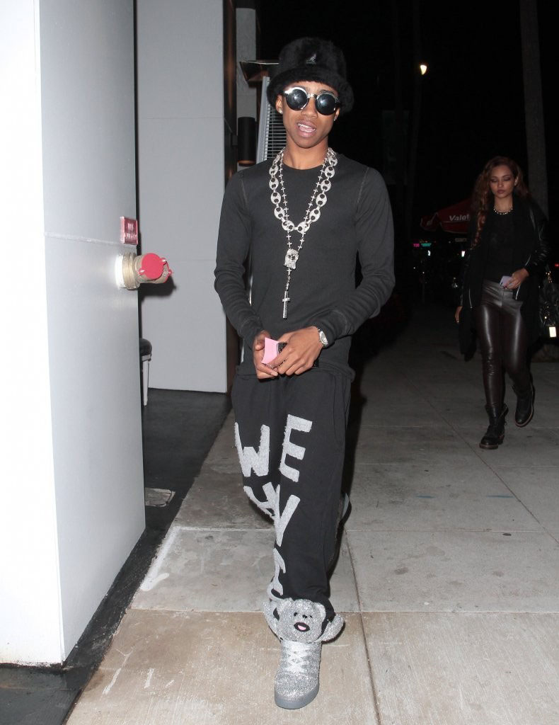 Lil' Twist wearing adidas JS Bears Holiday