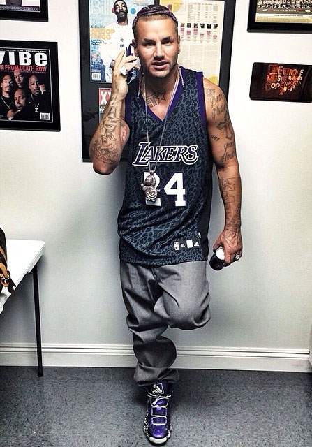 Riff Raff wearing adidas Crazy 8 Nightmare Before Christmas