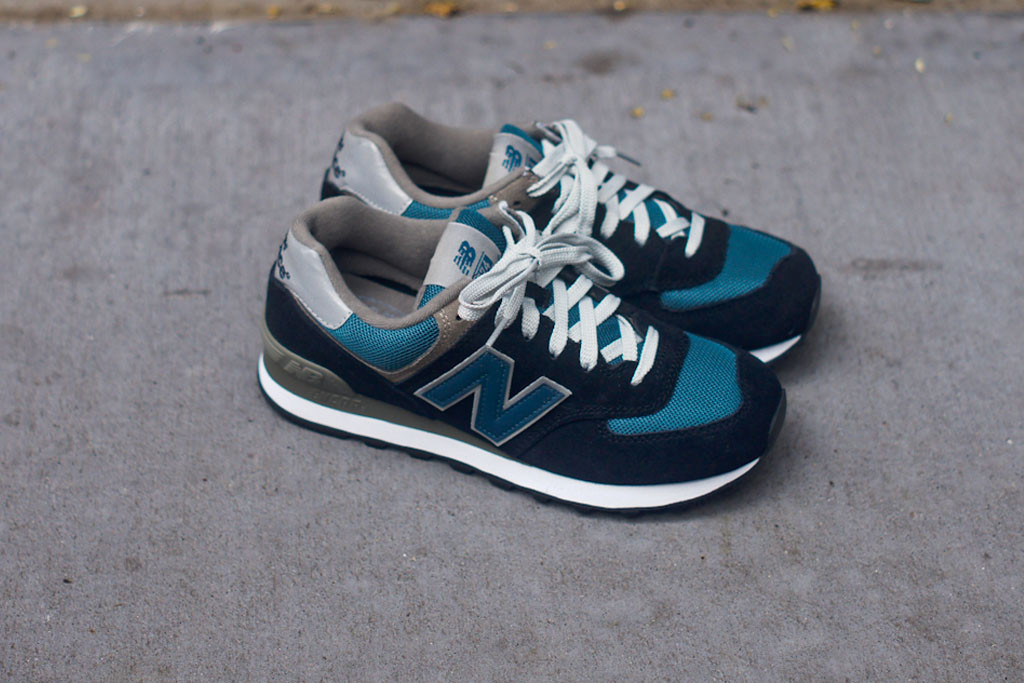 new balance 574 navy teal