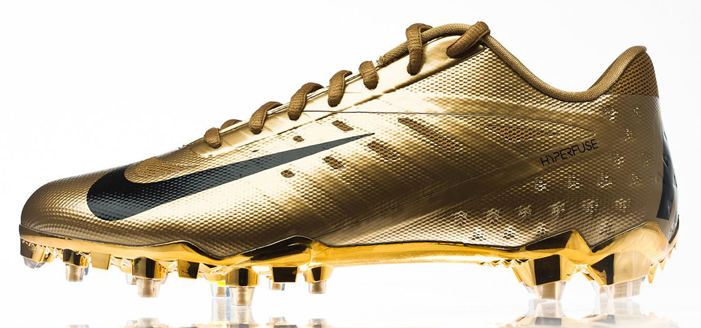 kids gold nike talon elite football cleats