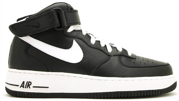 Nike Air Force 1 Mid Black/White-Black