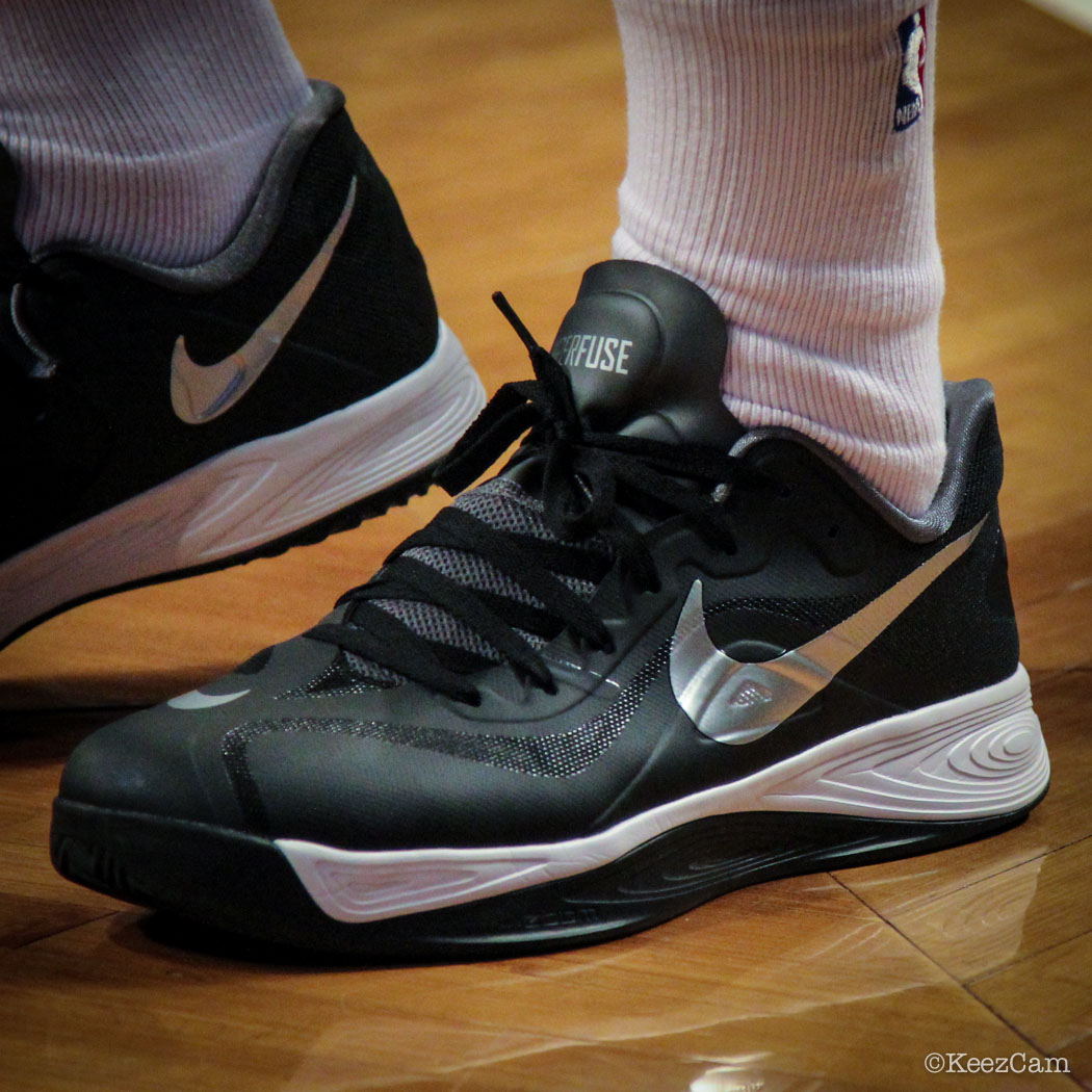 Orlando Johnson wearing Nike Zoom Hyperfuse 2012 Low