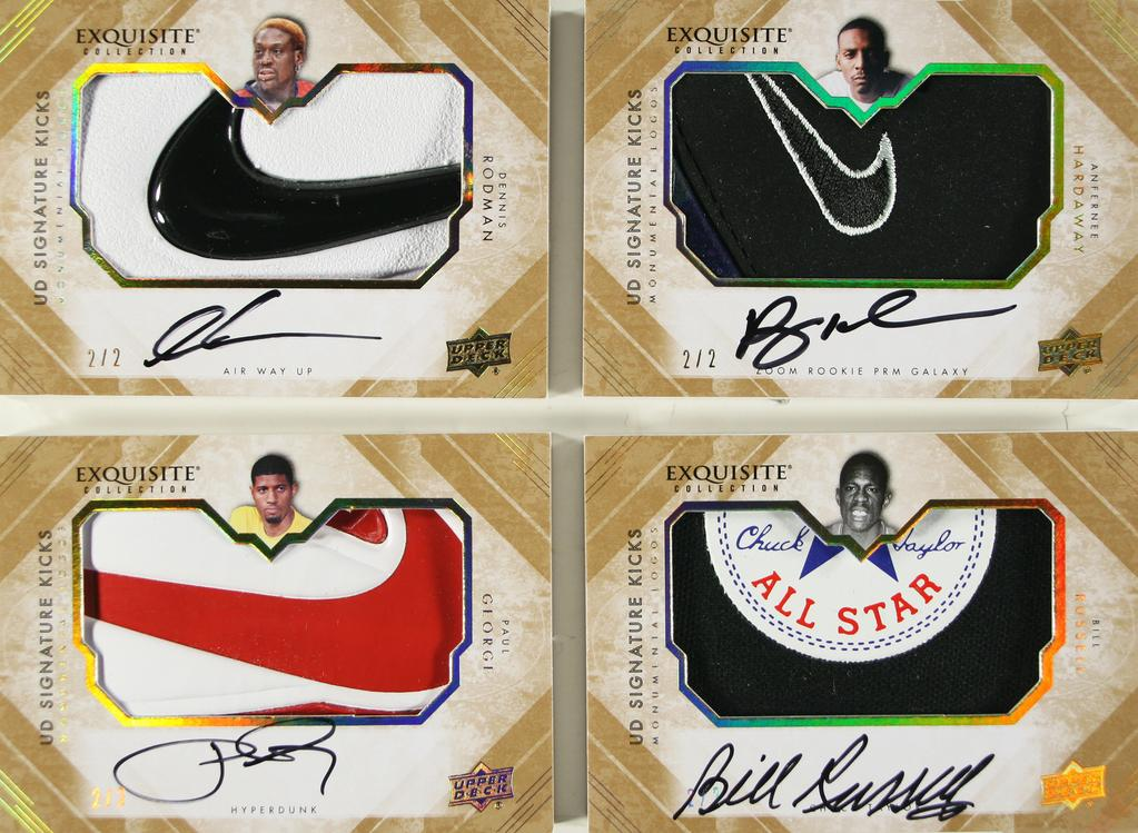 Upper Deck Exquisite Kicks: Rodman, Penny, George, Russell